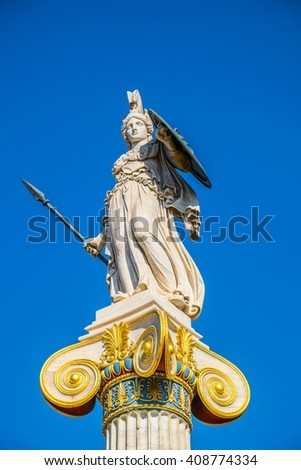 Statue of Athena,Academy of Athens,Greece