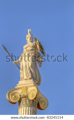 statue of Athena, academy of athens, greece