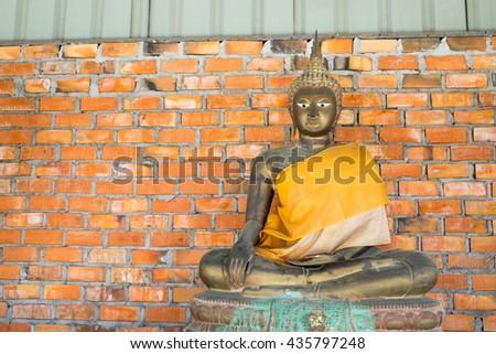 Statue of Buddha Thailand .  (Public place) - stock photo