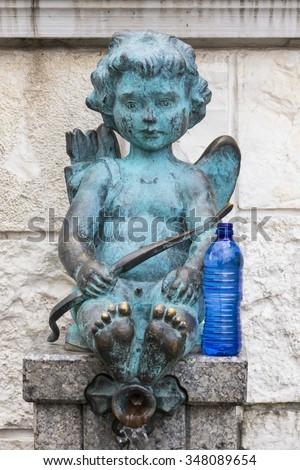 Statue of Cupid, Georgia - stock photo