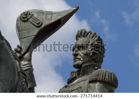 Statue of General Andrew Jackson at Lafayette Park in Washington, D.C. - stock photo
