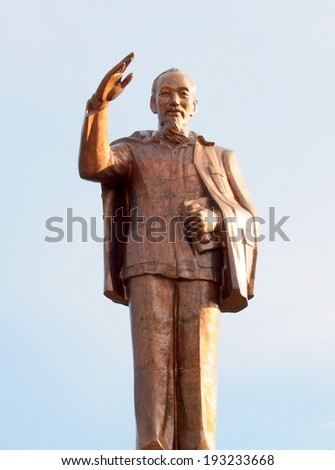 Statue of Ho Chi Minh in Can Tho, Vietnam