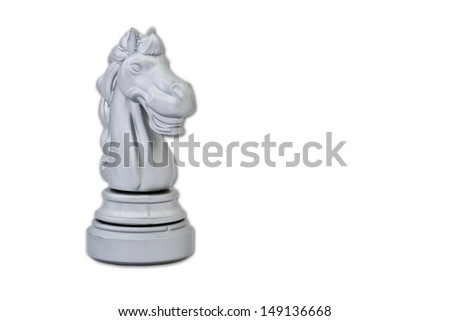 statue of horse isolated on white with path - stock photo