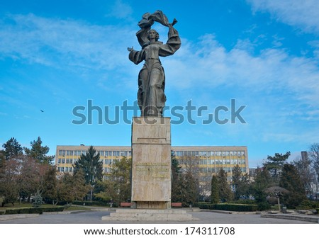 Statue of Independence, Iasi, Romania