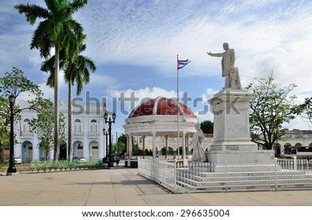 Statue of Jose Marti in Cienfuegos, Cuba - stock photo