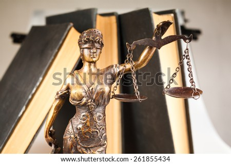 Statue of justice law layer business - stock photo