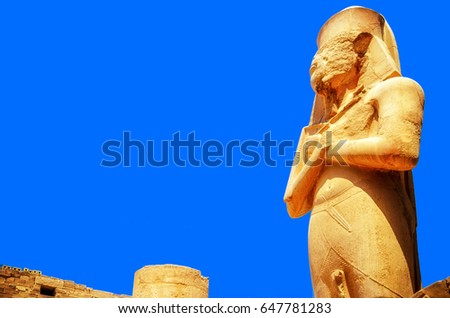 Statue of King Ramses II at the Karnak Temple, Egypt