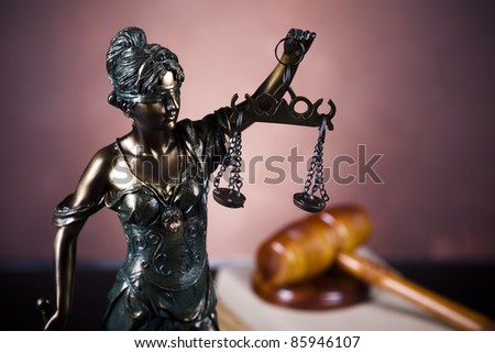 Statue of lady justice, law - stock photo
