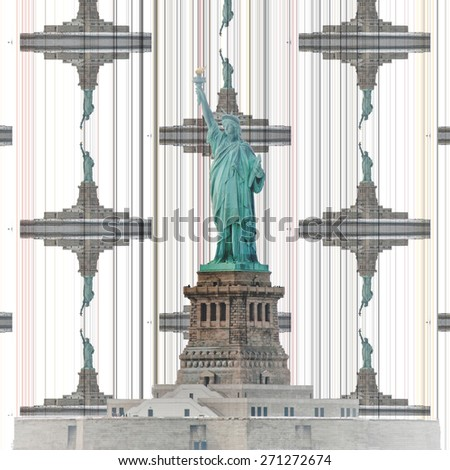Statue of Liberty Abstract - stock photo