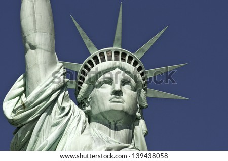 Statue of Liberty Face - stock photo