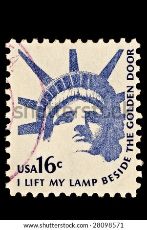 Statue of Liberty Head Issue by United States postal service