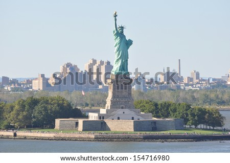 Statue of Liberty in New York - stock photo