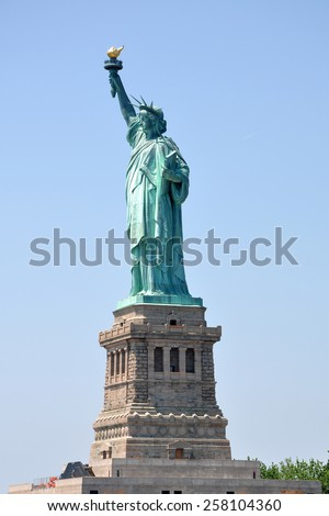 Statue of Liberty in New York, USA. - stock photo