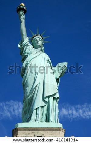 Statue of Liberty - Liberty Island, New York City, USA - stock photo