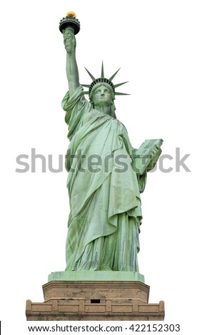 Statue of Liberty, Liberty Statue in New York, USA - with Clipping Path