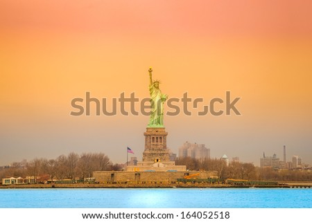 Statue of Liberty, New York City. - stock photo