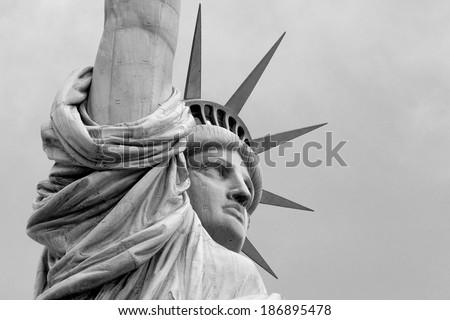 Statue of Liberty Up Close - stock photo