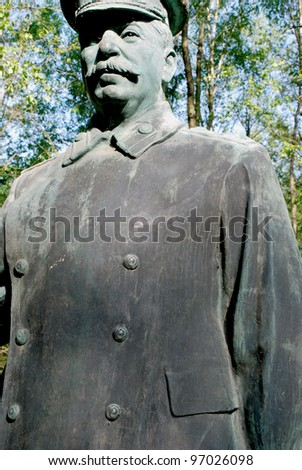 Statue of one of the top twentieth century dictator camp - only in historical museum. - stock photo