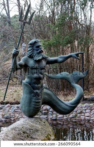 Statue of Poseidon - stock photo