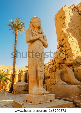 Statue of Queen Hatachepsout in the Temple of Karnak, Luxor, Egypt