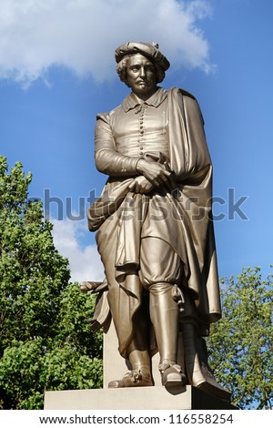 Statue Of Rembrandt, Amsterdam, Netherlands - stock photo