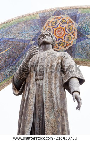 Statue of rudaki dushanbe tajikistan august 15 2014 monument to