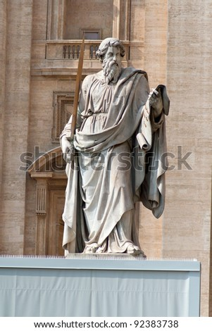 Statue of Saint Paul the Apostle in Rome