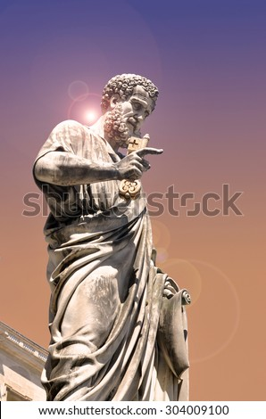 Statue of Saint Peter in Vatican city, Italy