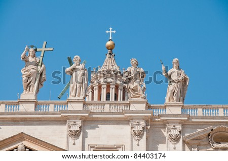 Statue of saints on St. Peter's Basilica