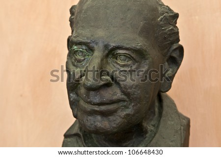 Statue of Sir Karl Popper at Vienna University - stock photo