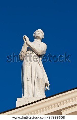 Statue of St. Stanislaus in the Cathedral. Vilnius. Lithuania.