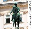 Statue of the Austrian Emperor in Vienna - stock photo