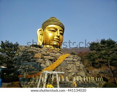 Statue of the Buddha, Waujeongsa Temple - stock photo