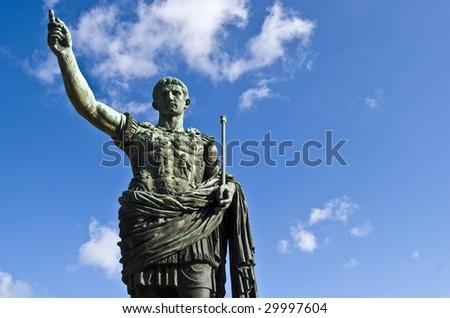 statue of the famous roman emperor Julius Caesar - stock photo