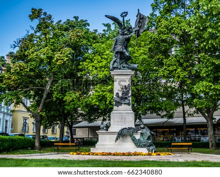 Statue of the Independence War in Budapest