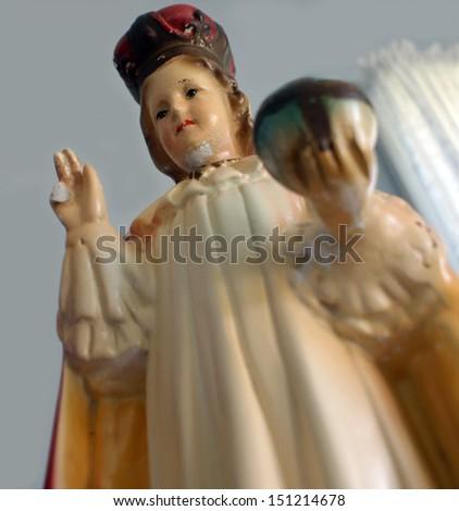 Statue of the Infant of Prague, AKA Baby Jesus. / Infant Of Prague - stock photo