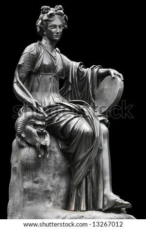 Statue of the Muse Thalia. - stock photo