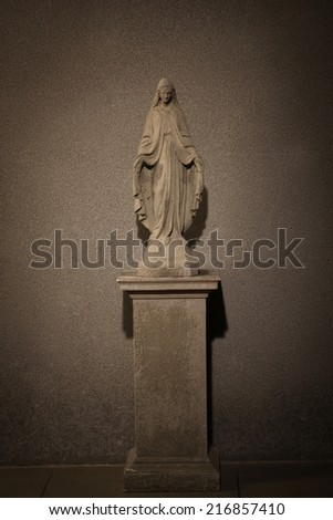 statue of the Virgin Mary  - stock photo