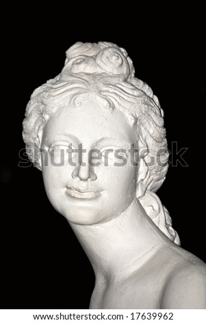 Statue showing a young woman - stock photo