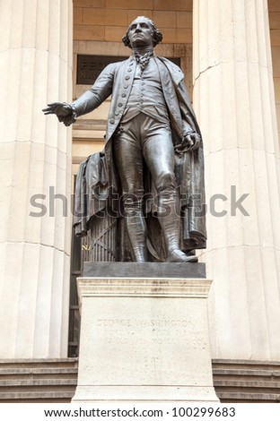 Statue to President George Washington Federal Hall NY