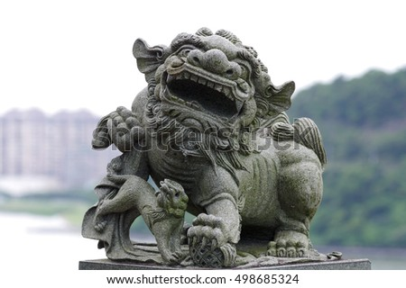 Statues of guardian lions have traditionally stood in front of Chinese Imperial palaces, Imperial tombs, government offices, temples, and the homes of government officials and the wealthy.