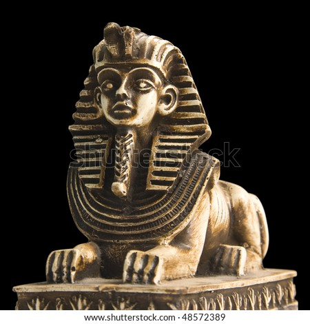 Statuette of Sphinx. Isolated - stock photo