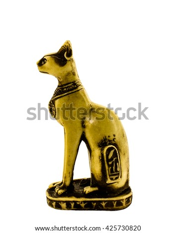 Statuette of the Egyptian cat - stock photo
