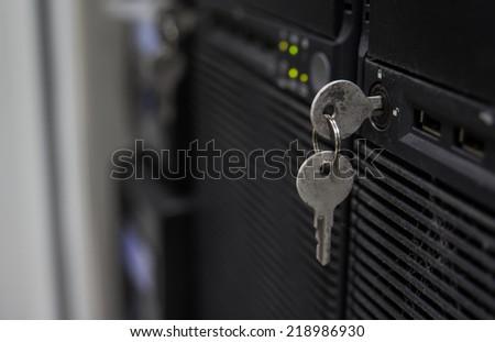 Status running of Storage Server - stock photo