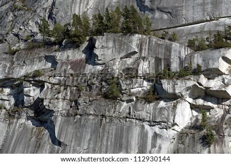 Stawamus Chief (wall) in Squamish, British Columbia - stock photo