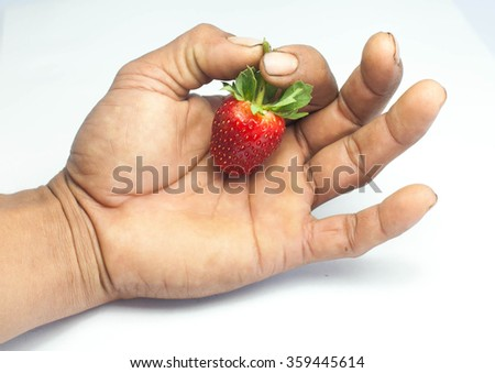 stawberry shoot by camera