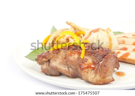 Steak and sausage
