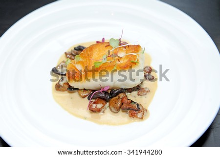 steak fish - stock photo