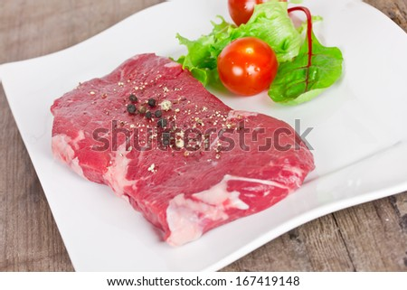 steak rare - stock photo