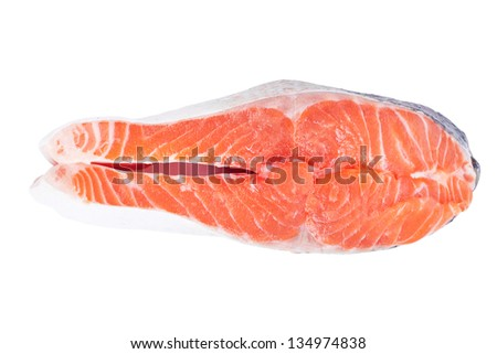 Steak trout isolated on white background